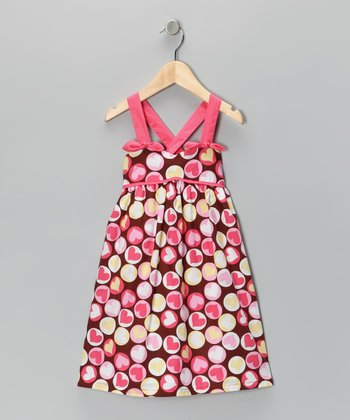 Brown Heart Dress - Toddler