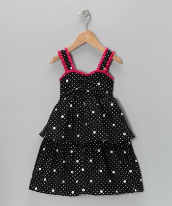 Black Polka Dot Dress - Toddler