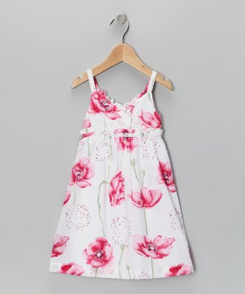 White Floral Dress - Toddler