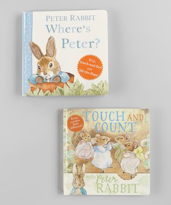 Touch and Count with Peter Rabbit & Where's Peter? Board Book Set