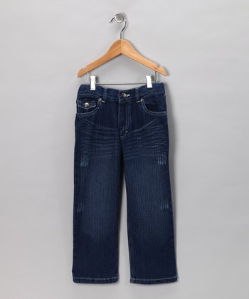 Blue Fade Straight-Leg Jeans - Toddler & Boys