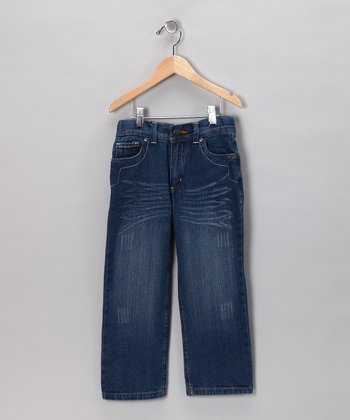 Blue Weathered Jeans - Toddler & Boys