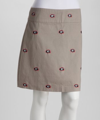 Khaki Georgia Stadium Skirt - Women
