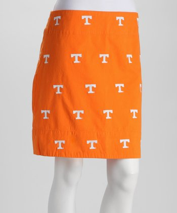 Orange Tennessee Stadium Skirt - Women