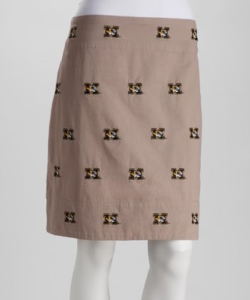 Khaki Missouri Stadium Skirt - Women