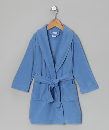 Light Blue Fleece Robe - Toddler
