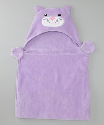 Lavender Kitty Hooded Towel