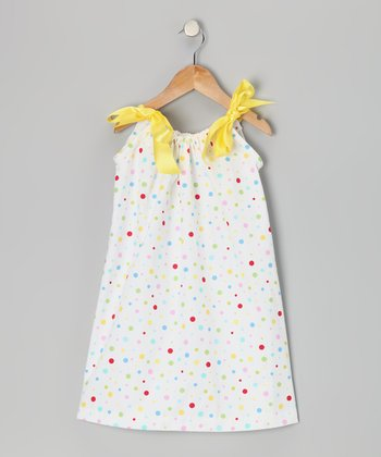Rainbow Polka Dot Shift Dress - Toddler & Girls