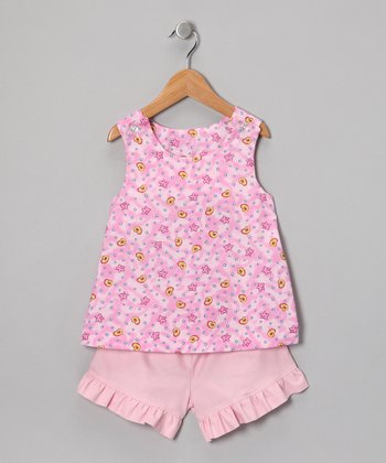 Pink Sun Top & Shorts - Infant, Toddler & Girls