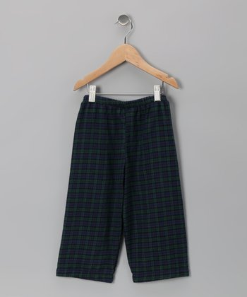 Navy Blue & Green Plaid Pants - Infant, Toddler & Boys