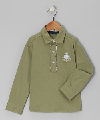 Green Long-Sleeve Polo - Infant, Toddler & Boys