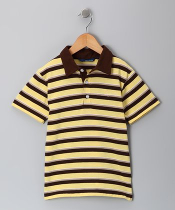 Yellow & Brown Shandy Polo - Infant, Toddler & Boys