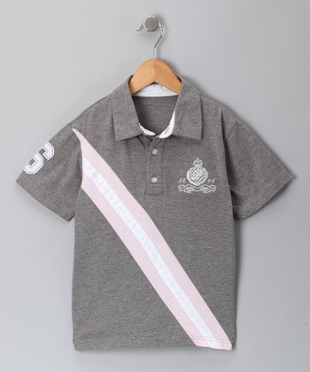 Gray Shelby Polo - Infant, Toddler & Boys