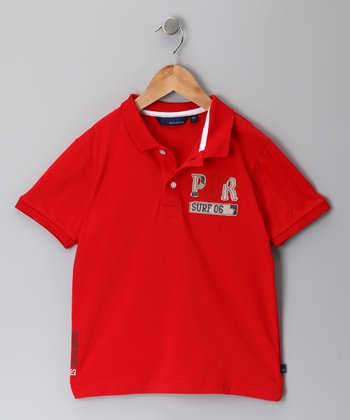 Red Spyro Polo - Infant, Toddler & Boys