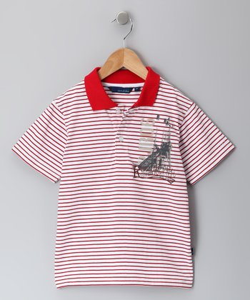 Red Stripe Stephen Polo - Infant, Toddler & Boys