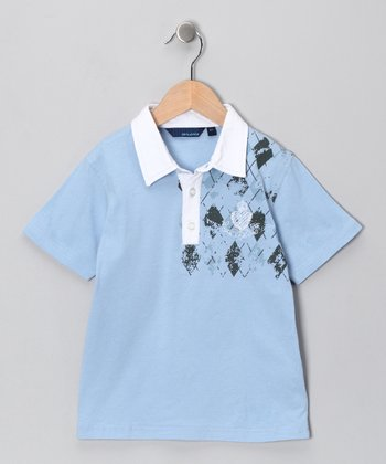 Light Blue Argyle Polo - Infant, Toddler & Boys