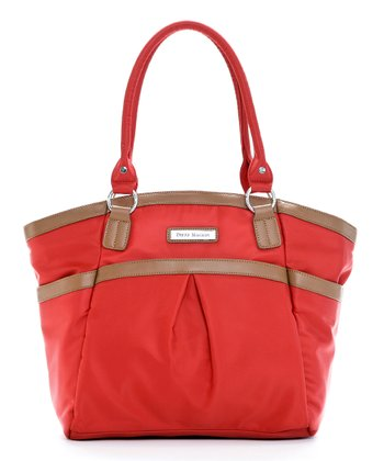 Red Harper Diaper Bag