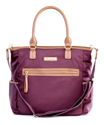Purple Oliver Diaper Bag