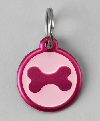 Pink Bone Red Dingo Pet ID Tag