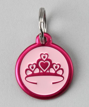 Pink Tiara Red Dingo Pet ID Tag