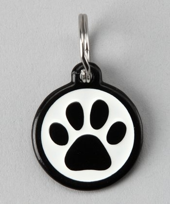 Black Paw Red Dingo Pet ID Tag