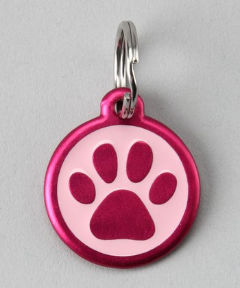 Pink Paw Red Dingo Pet ID Tag