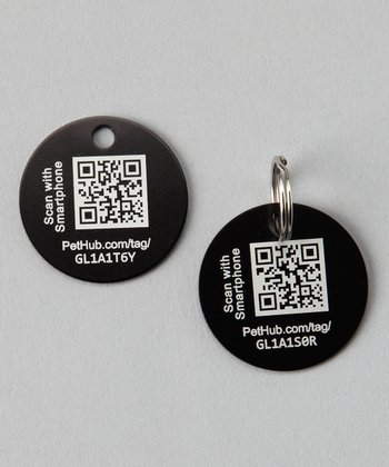 Black Basic Pet ID Tag
