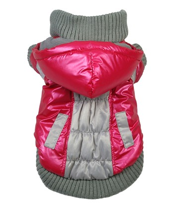 Red & Beige Aspen Vontage Dog Ski Coat