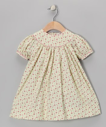 Ecru & Red Floral Dress - Infant