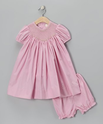 Petit Ami Pink Rose Bishop Dress - Infant, Toddler & Girls