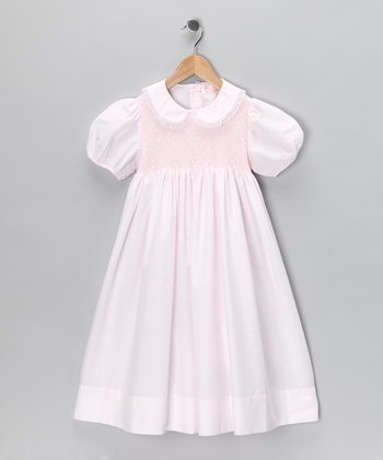 Pink Smocked Dress - Girls