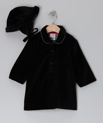 Black Velvet Coat & Hat - Infant & Toddler