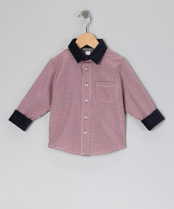 Red Plaid Button-Up - Infant & Toddler
