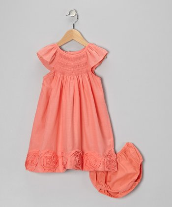 Orange Flower Swirl Dress - Infant & Toddler