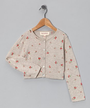 Sand Floral Liberty Cardigan - Toddler & Girls