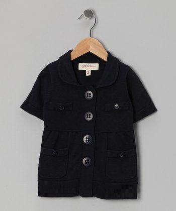 French Navy Cardigan - Toddler & Girls