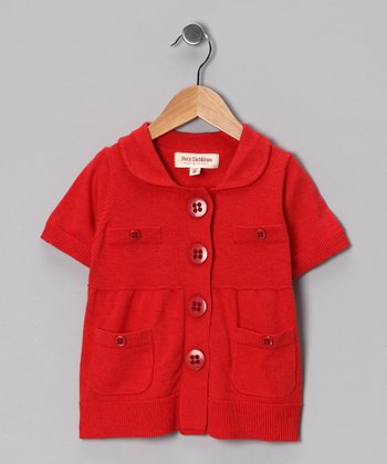 Pop Red Chanel Cardigan - Toddler & Girls