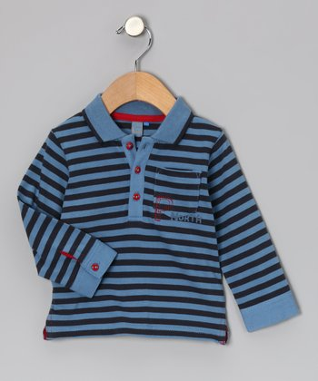 Blue Stripe Color Attitude Polo - Infant