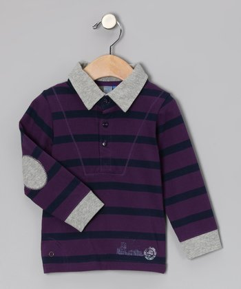 Purple Stripe In the City Polo - Toddler