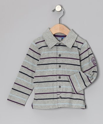 Gray Stripe In The City Polo - Infant & Toddler