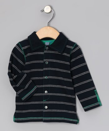 Blue Stripe Original Spirit Polo - Infant