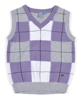 Purple Plaid Sweater Vest - Infant, Toddler & Boys