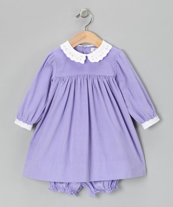 Lavender Corduroy Dress & Bloomers - Infant