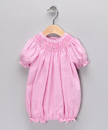 Bubblegum Smocked Bubble Bodysuit - Infant