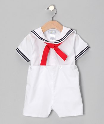 White Bobby Romper - Infant