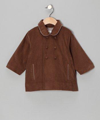 Chocolate Corduroy Peacoat - Infant & Toddler