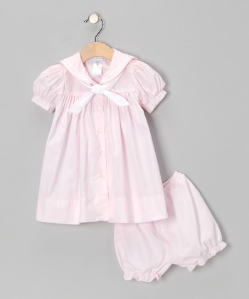 Pink Nautical Dress & Bloomers - Infant