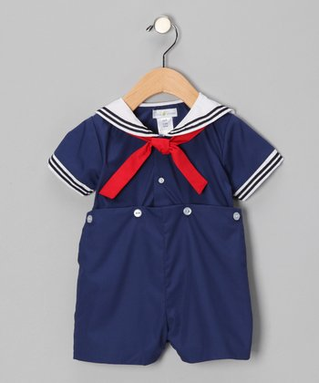 Navy Bobby Romper - Infant