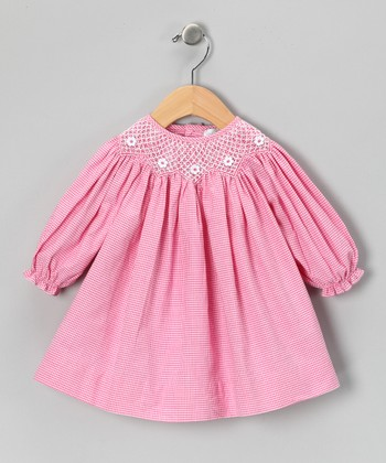 Pink Gingham Bishop Dress - Toddler