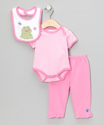 Hot Pink Frog Bodysuit Set